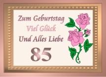 Geburtstagskarten 85 Geburtstag, Einladungen, Grußkarten, Einladungskarten