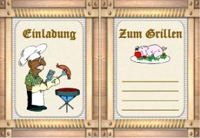einladung grillfest mitarbeiter | brillebrille, Einladungen