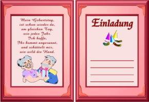 Einladungskarten Geburtstag 65