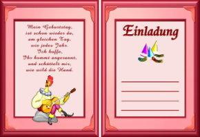 Einladungen fr den Geburtstag von Teens - mimangode
