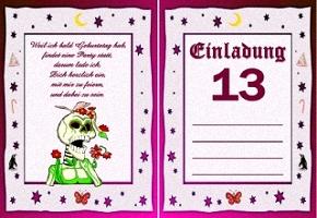 Einladungskarte 13 Geburtstag
