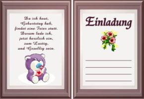 Einladungskarten Geburtstag Texte 18