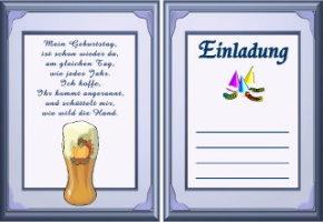 einladungskarten gestalten geburtstag – ledeclairage, Einladungsentwurf