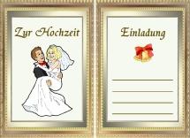 Einladungskarten zur Hochzeit kostenlos Ausdrucken und Downloaden