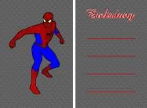Einladungskarten Spiderman