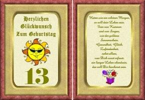 Grußkarte 13 Geburtstag