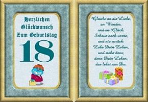 Grußkarte 18 Geburtstag