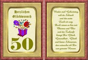 Grusskarte 50 Geburtstag