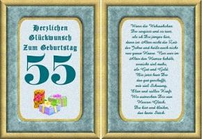 Grußkarte 55 Geburtstag