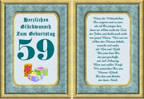 Grußkarte 59 Geburtstag