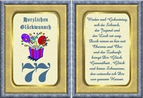 Gedichte Zum 77 Geburtstag Für Oma