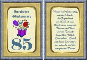 Grußkarte 85 Geburtstag