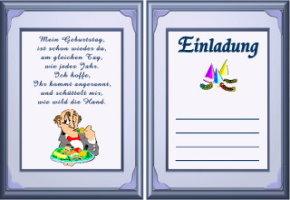 Geburtstagseinladungskarten Zum Geburtstag, Einladungskarten